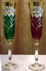 Декорированное богемское стекло. Фарфор. - www.posuda.tk