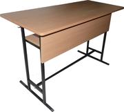 Стол аудиторный двухместный с полкой и панелью (1200*500*750)