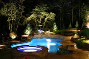 Ландшафтная подсветка дома,  дачи,  особняка