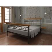 Кровать металлическая Эсмеральда-Вуд