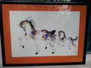 Картина   Лошадь с жеребенком     Акварель