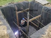Устройство(заливка) фундамента под водонапорную башню,  фундамент башни