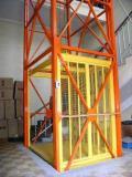 Лифт,  подъемник шахтный для вертикального перемещения грузов снаружи и