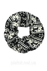 Тёплый шарф-снуд. Новогодний орнамент.