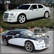 Аренда авто крайслер 300с белого цвета на свадьбу Прокат украшений