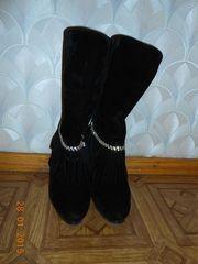 ботиночки замшевые с брюликами.