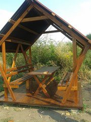 Беседка деревянная «Карпатка»