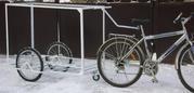 Грузовая тележка прицеп для велосипеда в виде мобильной торговой точки