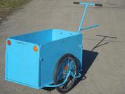 Грузовая тележка,  вело прицеп универсальный с увеличенным кузовом «Вез
