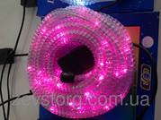 Дюралайт LED 10м с контроллером светодиодный розовый