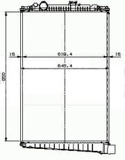 Радиатор для Даф 1434917,  1627415,  1371372