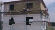 Утепление фасадов зданий минеральной (базальтовой) ватой.