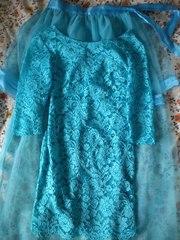 Кружевное красивое платье(+юбка)