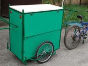 Вело трейлер мобильная торговая точка Везун-Торг К  с съемной крышей