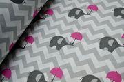 Оригинальное постельное белье детское,  Комплект Слоники-Зонтики
