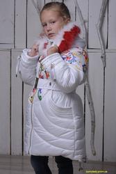 Теплое зимнее пальто (куртка) на девочку. Распродажа! От производителя