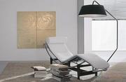 Шезлонг Лекор экокожа ,  кресло для отдыха дизайнрское