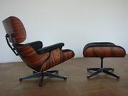Кресло Релакс с оттоманкой,  натуральная кожа Eames Lounge Chair & Otto