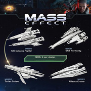 3D Puzzle Mass Effect Металлический конструктор пазл