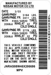 Наклейка с Вашими данными ( с VIN номером) на любое авто