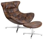 Кресло с оттоманкой Мексика,  цвет коричневый