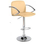 Высокий барный стул Люкс,  цвет бежевый