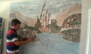 Барельеф и рельефное  панно,  картины,  рельефная роспись стен.