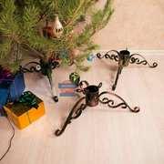Металлическая подставка под елку. Кованая ТРЕНОГА для елки