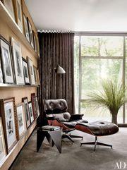 Кресло с оттоманкой Релакс,  цвет черный