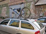 Перевозка велосипедов на крыше авто
