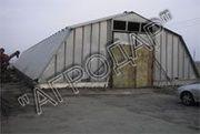 Продам шатровый беcкаркасный дюралюминиевый ангар размером 12х40м.