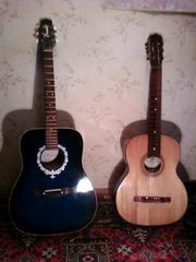 Продам либо обменяю две аккустические гитары на одну